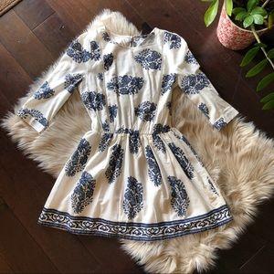 ✨NEW✨Love Culture white quarter sleeve mini dress